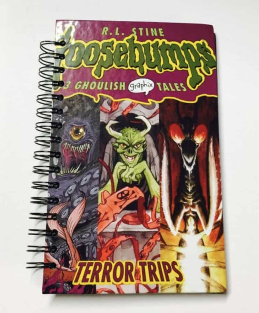 Goosebumps recycled book notebook