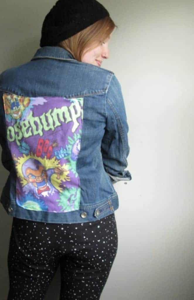 vintage Goosebumps jean jacket
