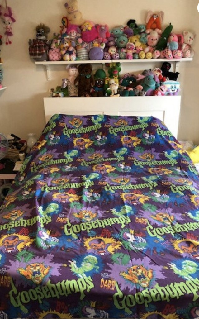 vintage Goosebumps bed sheets