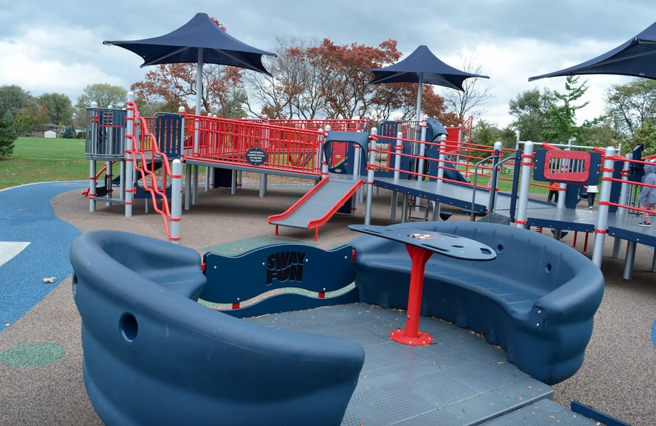 handicap accessible teeter totter inclusive playground
