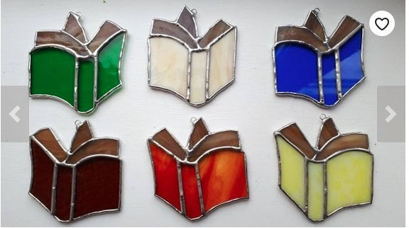 Book Stained Glass Ornament