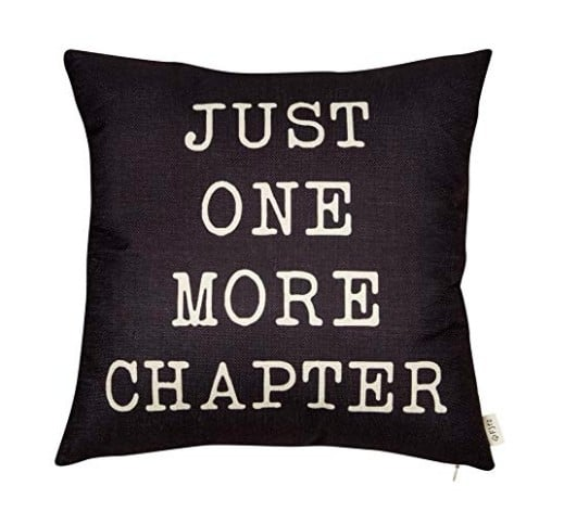 Just One More Chapter Book Pillow