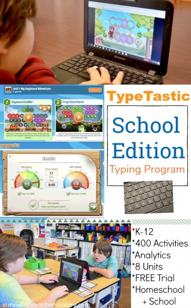 TypeTastic School Edition typing program