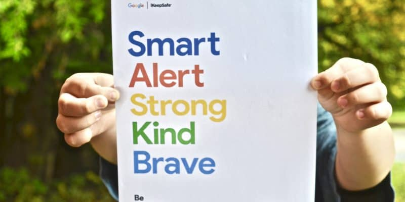 Smart, Alert, Strong Kind Brave Be Internet Awesome sign