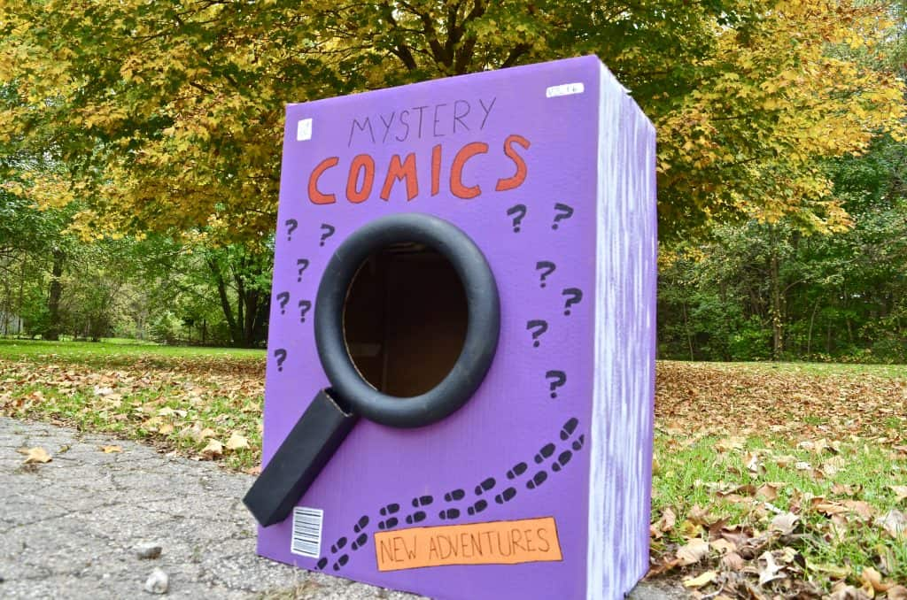 purple comic book costume DIY