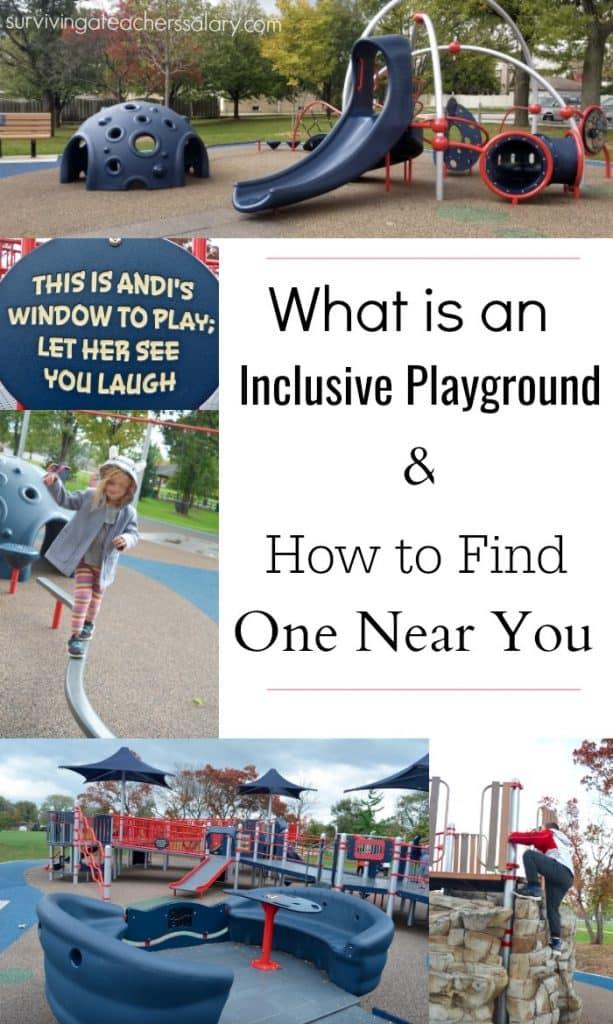 Landscape Structures inclusive playground Elmhurst