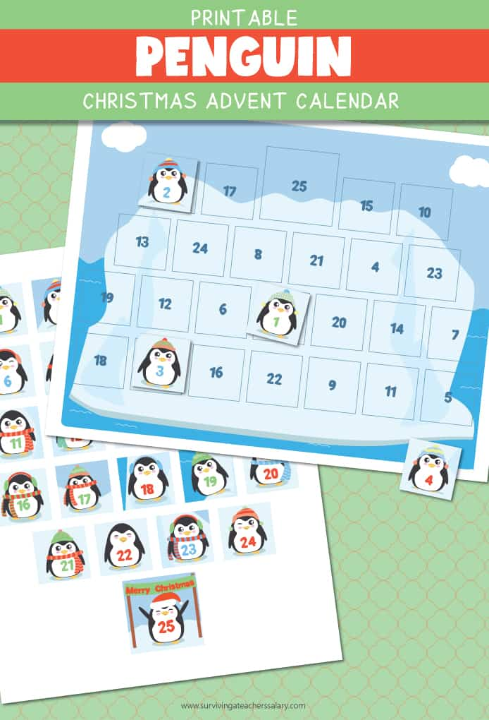 winter penguin advent calendar