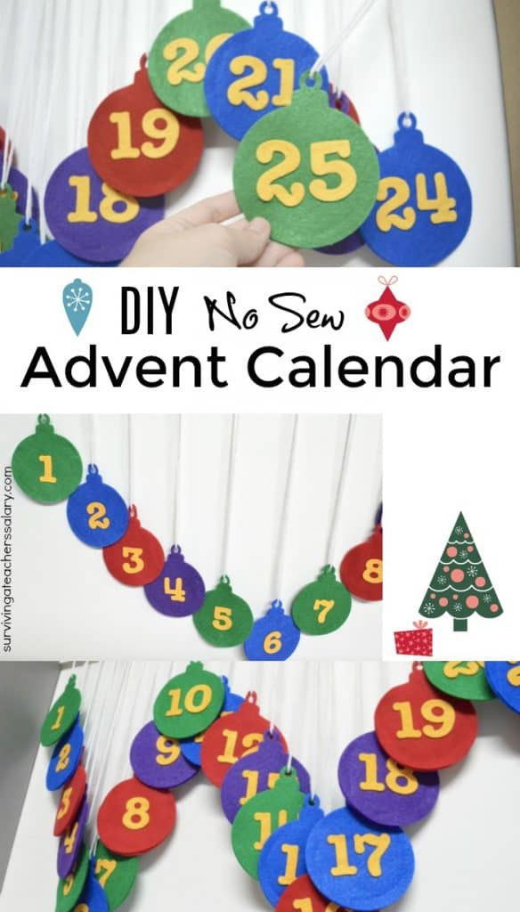 diy no sew advent calendar