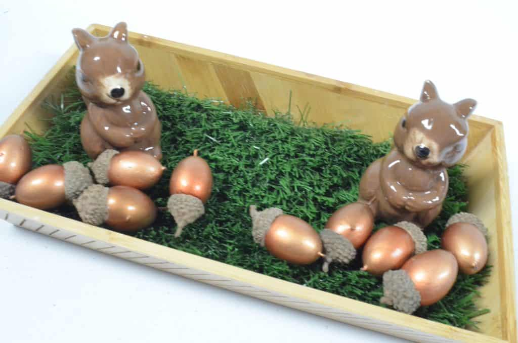 Squirrel Fall Sensory Bin for preschool