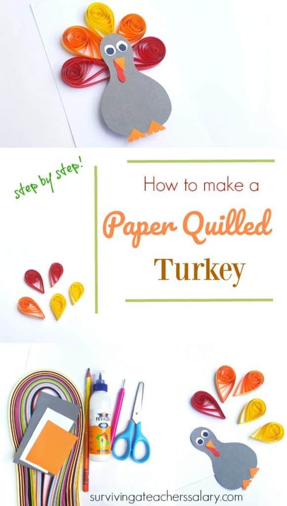 Paper Quilled Turkey