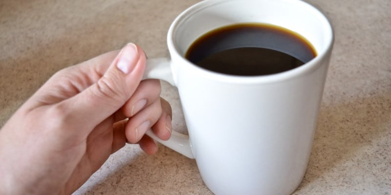 hand holding mug simple paleo aip coffee recipe
