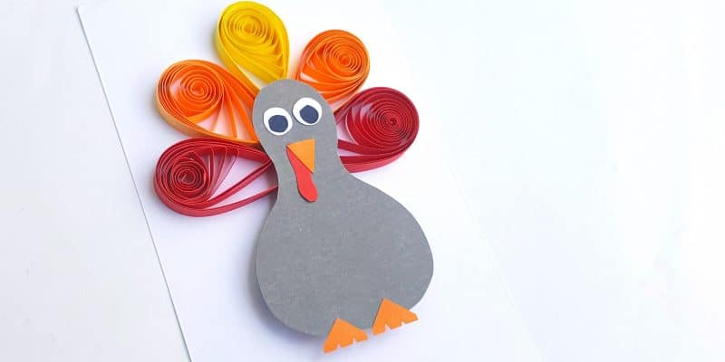 paper quilled Thanksgiving turkey