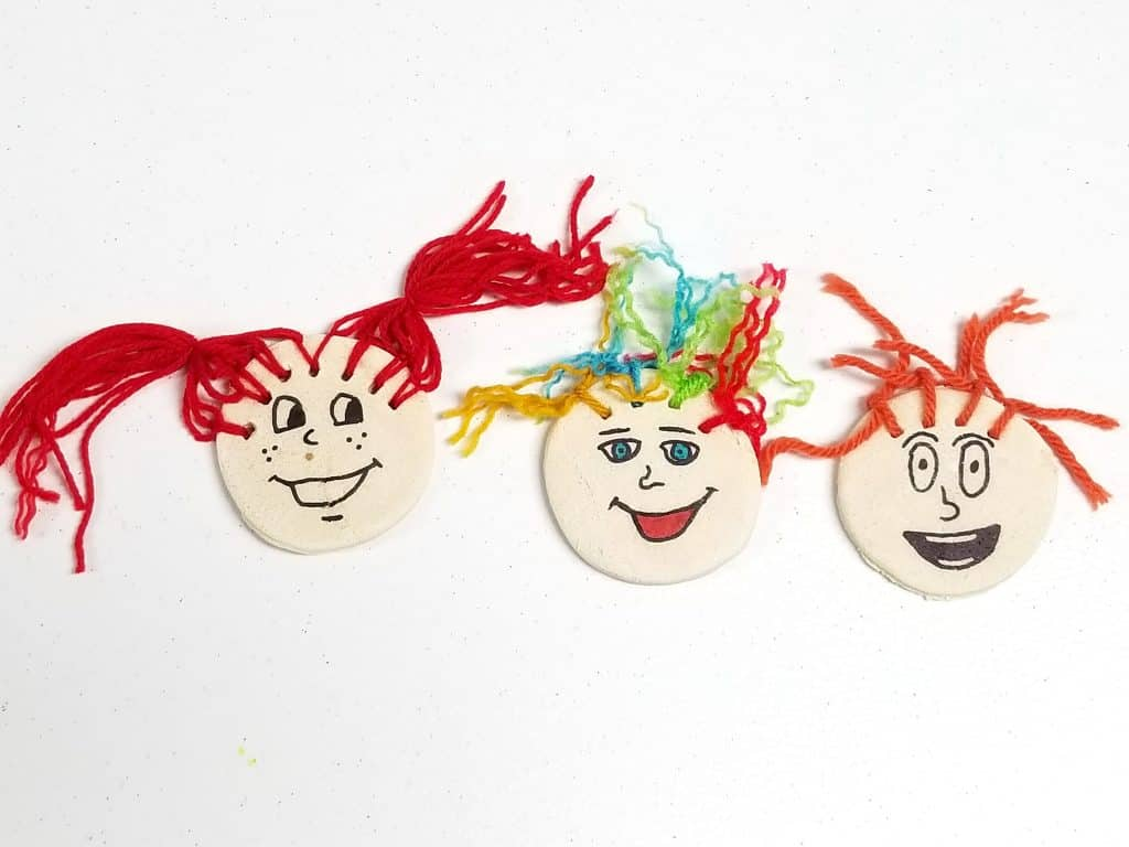 salt dough crazy faces art project