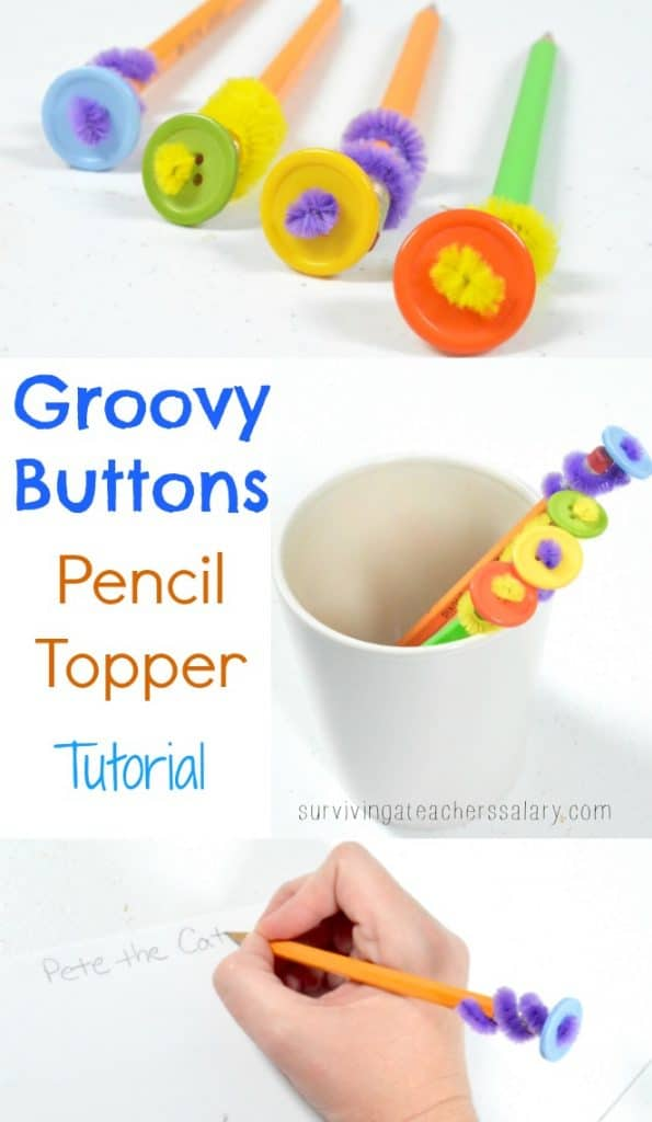 groovy buttons pencil topper tutorial