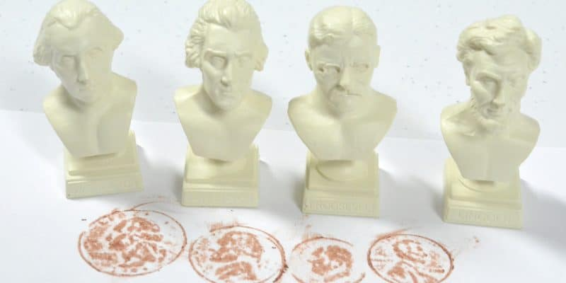 president busts and coin rubbings