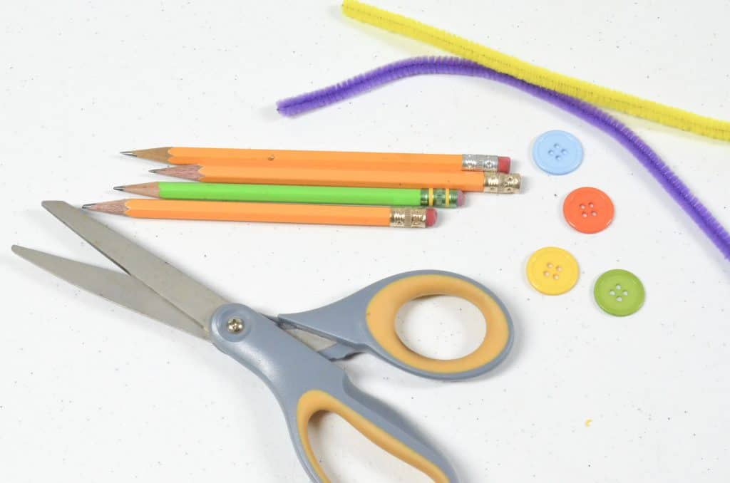 button pencil toppers craft materials