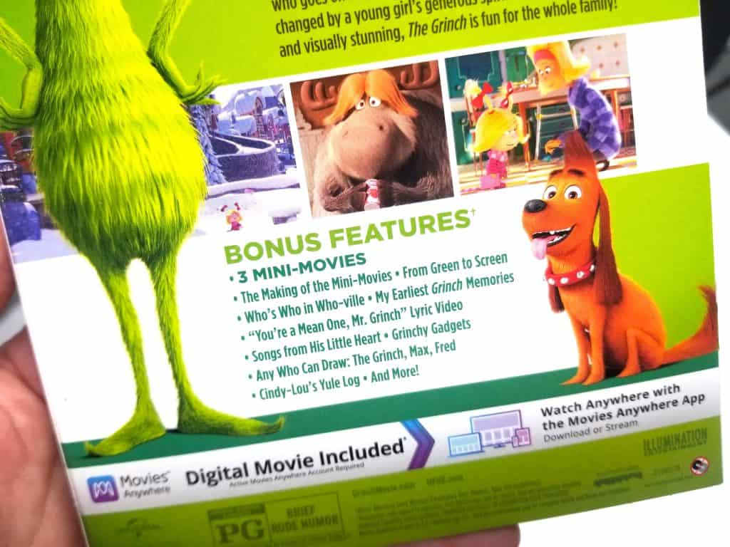 back cover of The Grinch movie Bluray