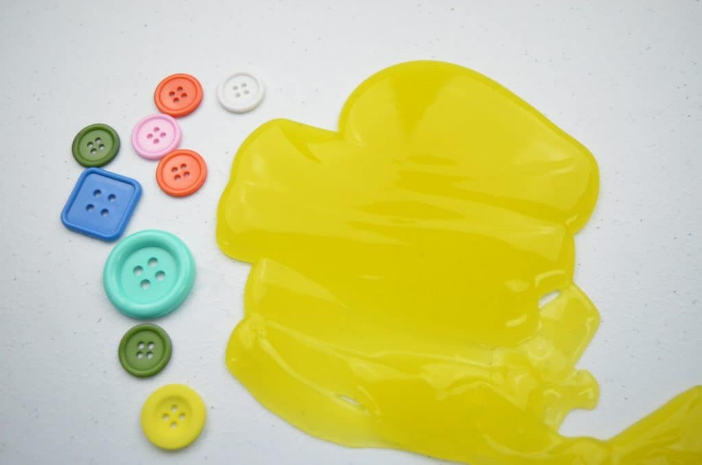 yellow slime and buttons