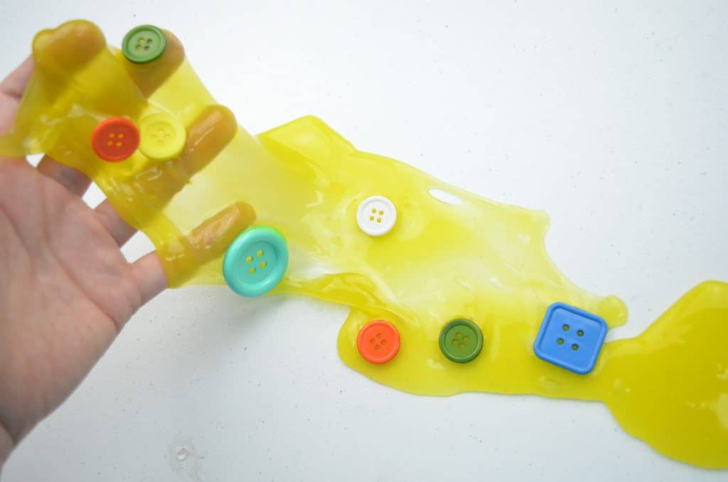yellow slime with buttons