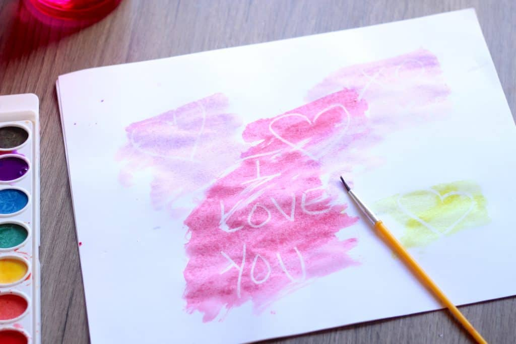watercolor art writing craft project
