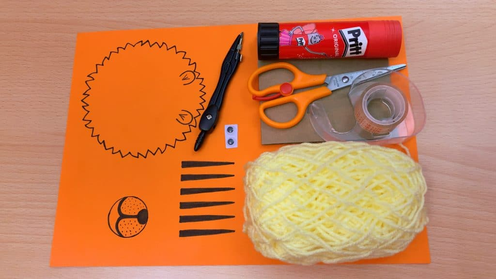 craft supplies for 3d lion art