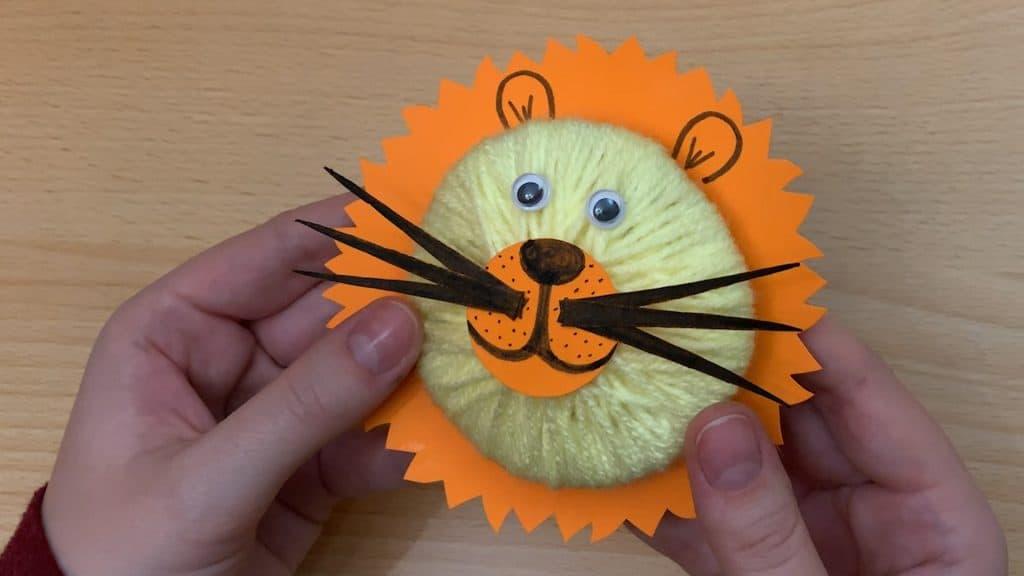 3d lion kid's craft project