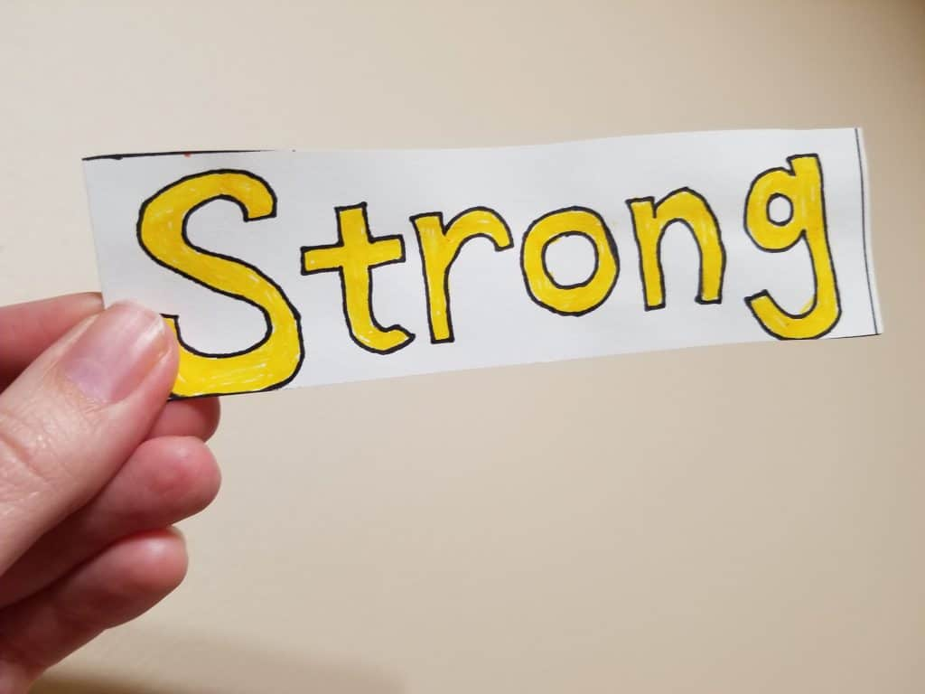 Be Strong Bookmark