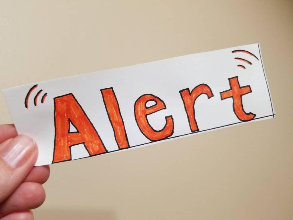 Be Alert Bookmark