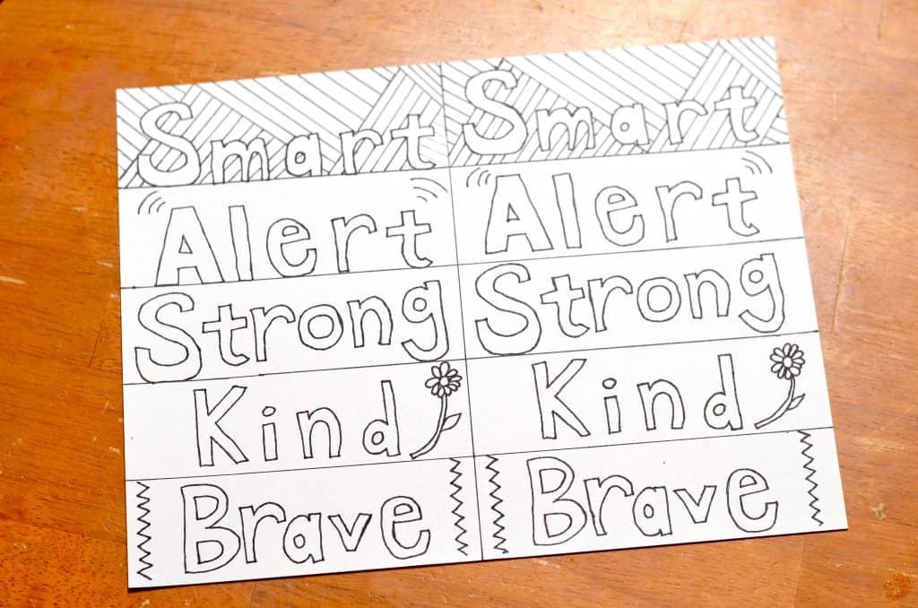 affirmation words bookmarks