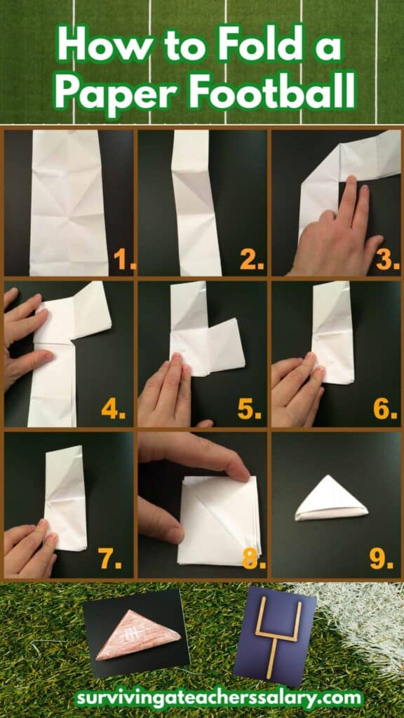 how to fold a paper football