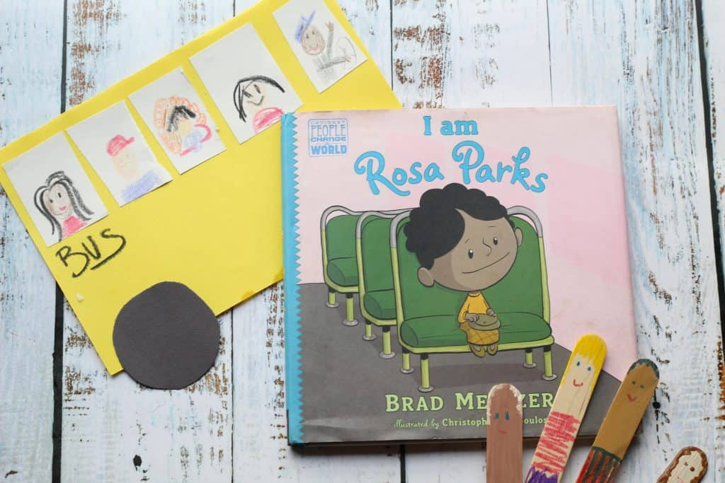 bus paper craft and Rosa Parks book