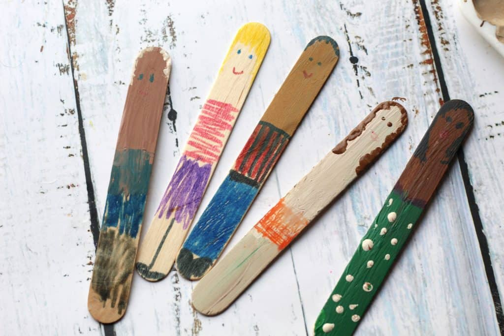 black history month cultural craft sticks