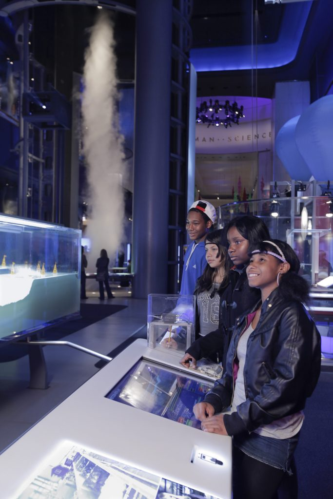 students at a science museum