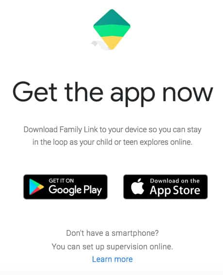 Family Link app for families