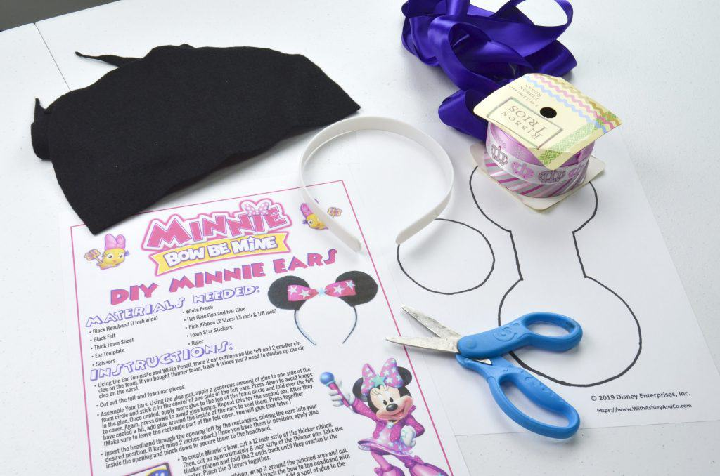 craft materials for minnie mouse ears