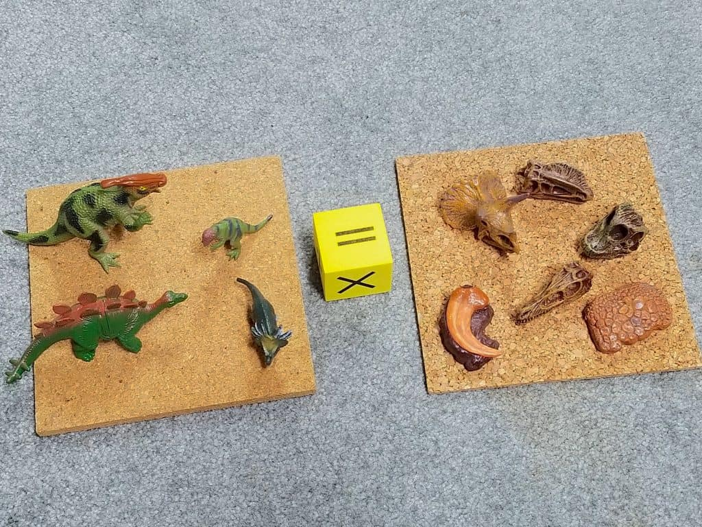 dinosaurs and fossils sensory play learning