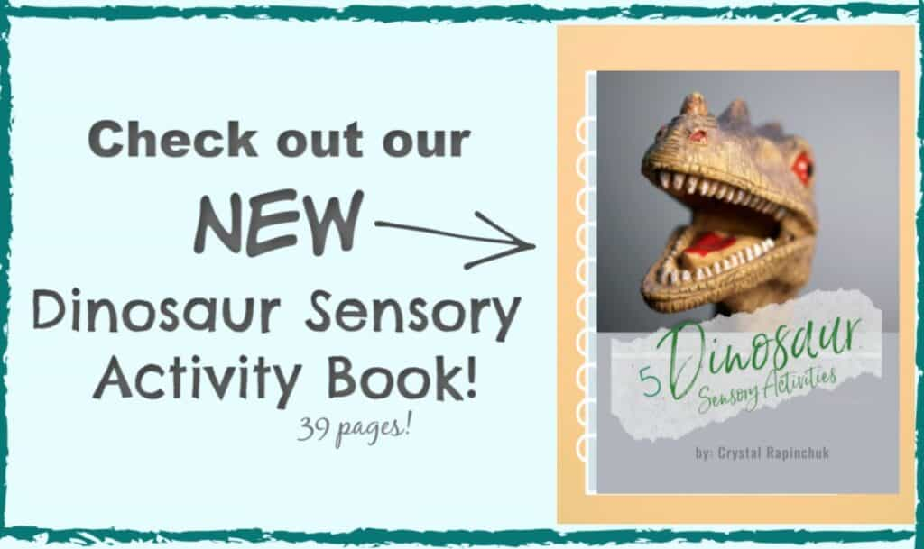 dinosaur sensory activity book