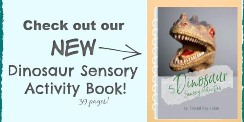 dinosaur sensory activity book