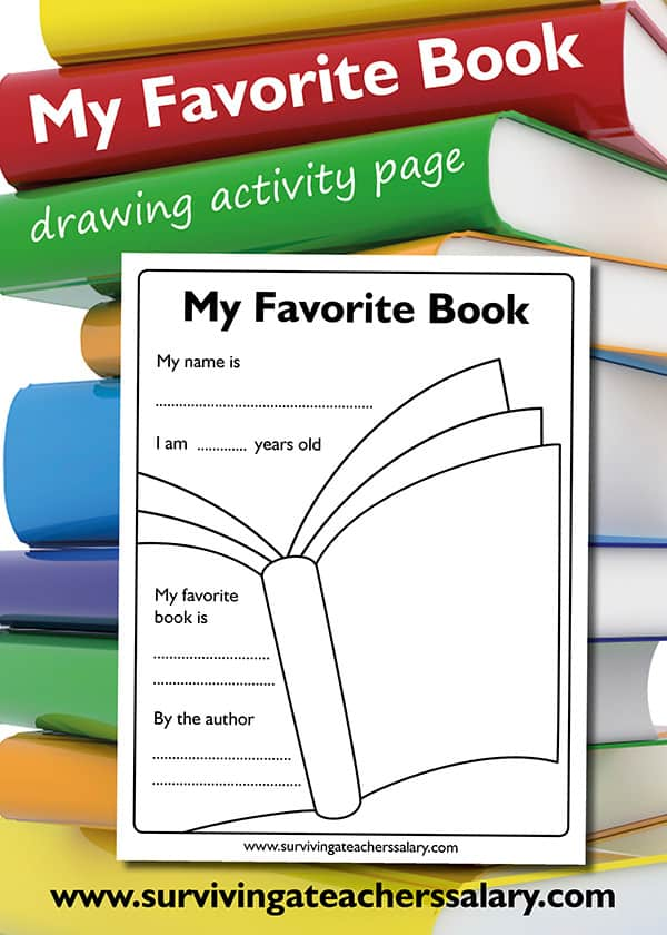 My Favorite Book Printable Activity page