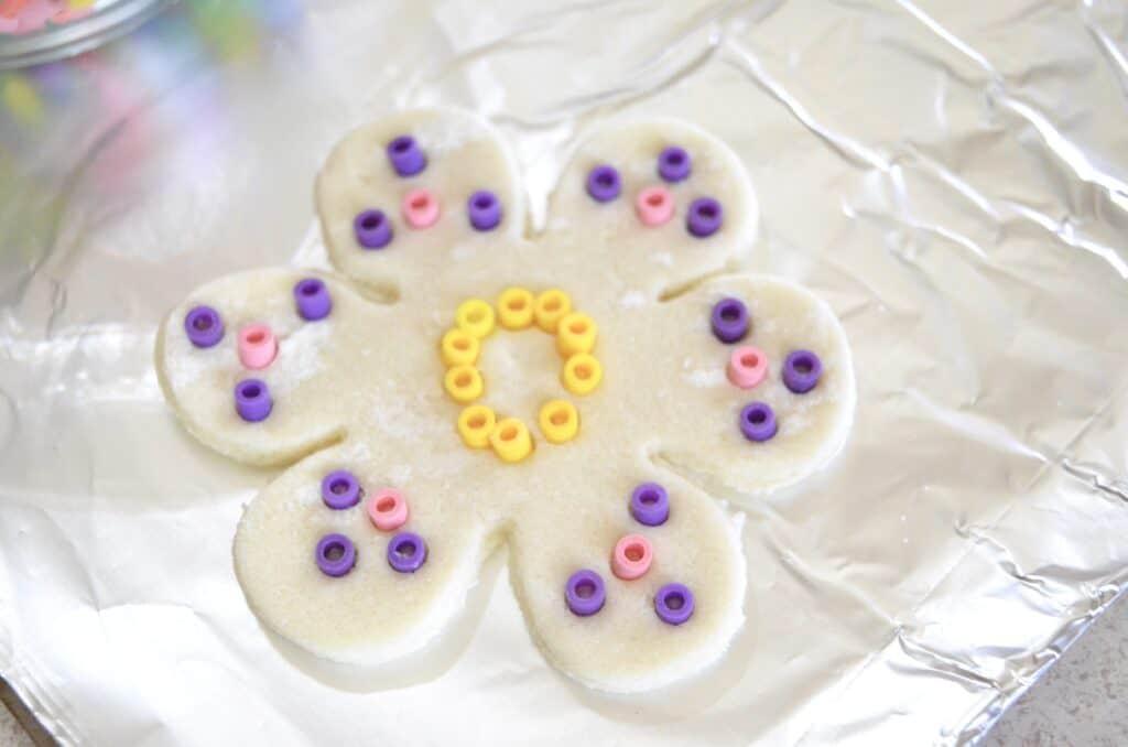 salt dough flower perler beads