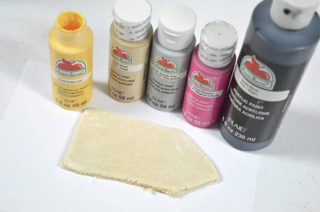 painting pencil salt dough
