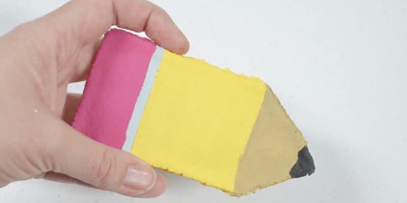 pencil salt dough sensory activity