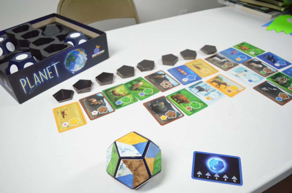 Planet board game setup by Blue Orange Games Review