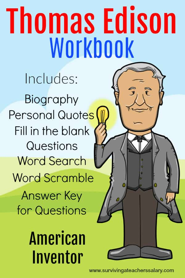 Thomas Edison Worksheets
