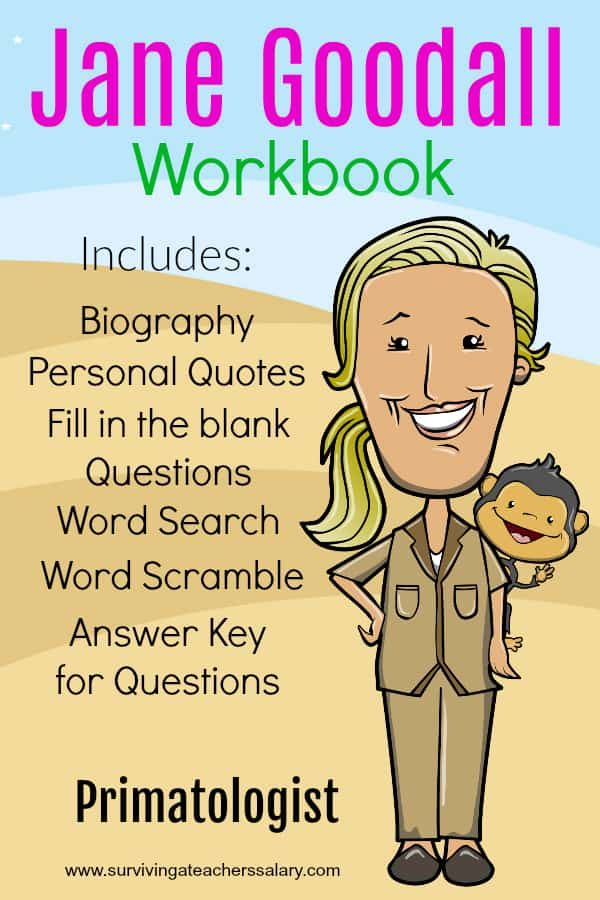 Jane Goodall Worksheets