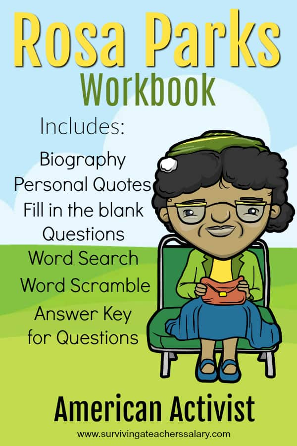 printable rosa parks workbook