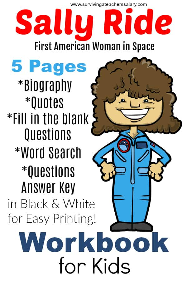 Sally Ride Worksheets