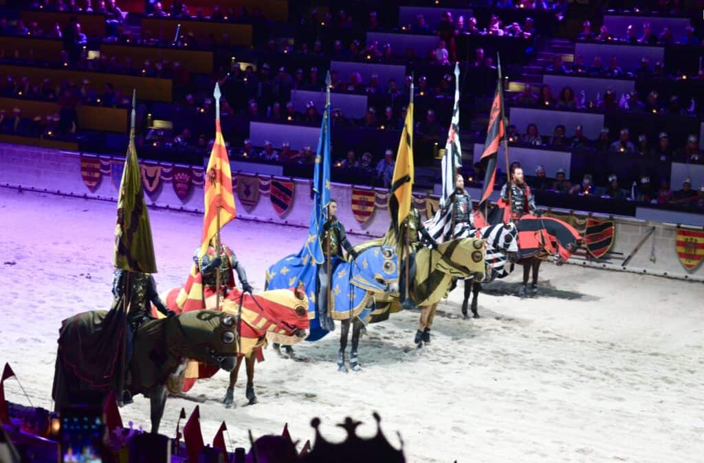 horses and knights at Medieval Times