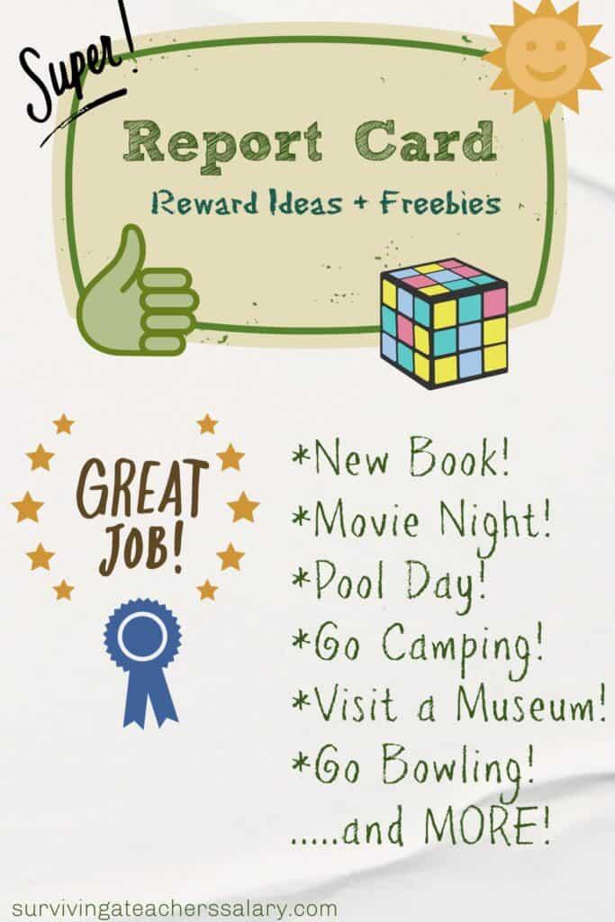 report card reward freebies