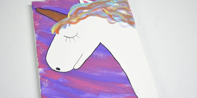 hand painted unicorn on canvas